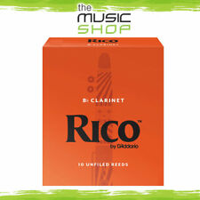 Rico 2 Strength Bb Clarinet Reeds - Box of 10 - New The Music Shop - Reed
