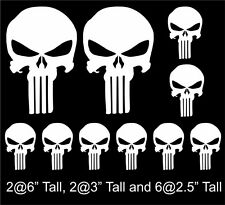 10 pack of Punisher Skull Vinyl Decal Window Stickers, numerous colors free ship