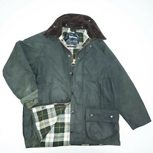BARBOUR BEAUFORT Mens Jacket Waxed Rain Haunting Jacket size L