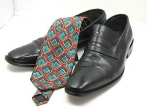Quality Fashion Italian Lot Bespoke Leather Men's Shoes & Italian Silk Tie