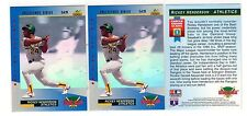 1X RICKEY HENDERSON 1993 Upper Deck #3 Dennys Hologram NMMT Lots Available A's