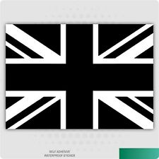 Black and White Union Jack Flag Vinyl Stickers Car Van Truck Taxi Lorry