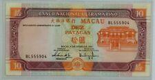 2003 MACAU 10 Patacas UNC [P-77] 大西洋银行 Banco Nacional Ultramarino 豹子头5