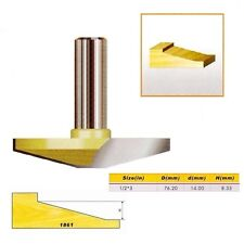 "15 Degree Horse Nose Router Bit- 1/2*3 - 1/2"" Shank -"