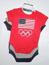 Team USA official Olympic baby unisex one piece lot of 3  Shirts 6-9 month