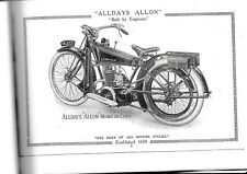 ALLDAYS ALLON  VINTAGE MOTOR CYCLE SALES BROCHURE