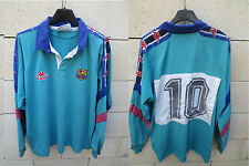 VINTAGE Maillot rugby BARCELONE porté n°10 camiseta BARCELONA Kappa worn shirt L