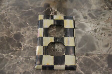 Double Outlet Switch Plate made w/Mackenzie Childs Courtly Check Tissue Paper