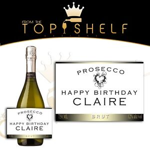 personalised wine champagne prosecco cava bottle label birthday any occasion