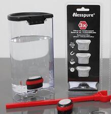 Lot de 3 x filtres de rechange pour nesspure nespresso filtre à eau système