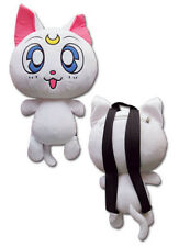 "NEW GE Sailor Moon Artemis White Cat 12.5"" Plush Bag Backpack GE84599 US Seller"