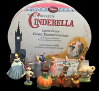 Walt Disney's Cinderella Limited Edition Ceramic Figurine Collection NIB COA