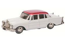 micro racer MERCEDES BENZ 220 S BLANC/Rouge 01151