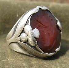 Chicago Art Metal Studios AMS Arts & Crafts Sterling Silver Intaglio Ring