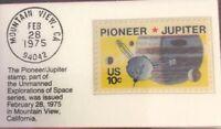 1975 Ten Cent Stamp Pioneer/Jupiter GMA GEM MT 10