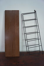60er Bookcase Vintage String Shelf Walnut Wall Shelf Danish Shelf System