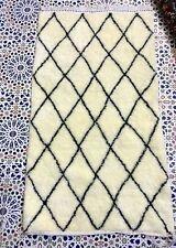 Beautiful Moroccan Rug Beni Ourain Rug, Berber Wool Carpet, tapis BENI OURAIN