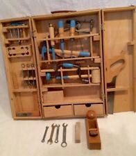 Vintage Tool Set Wood Box Carpenter's Tools Kids Playset From The 70's