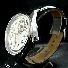 RARE REGULATEUR Antique 1928 Large Stainless Steel Watch Art Deco Metal Dial