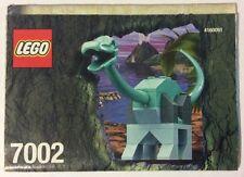 LEGO 7002 Notice de Montage Instruction Booklet 2001 Dinosaure Brachiosaurus