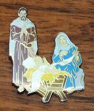 BPC LK 2:12 (Luke 2:12) Baby Jesus in Manger Religion Color Pin / Brooch / Lapel
