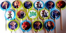 30 ZOOTOPIA  Cupcake Toppers Birthday Party Favors 30