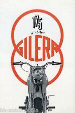Prospekt Gilera 175 Giubileo Motorradprospekt 1960 brochure broschyr brosjyre