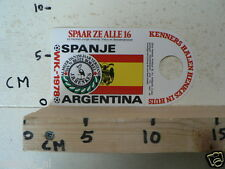 STICKER,DECAL WK ARGENTINA 1978 VOETBAL,SOCCER JH HENKES SPANJE SPAIN A