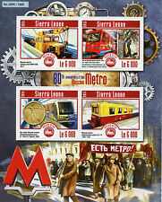 Sierra Leone 2015 MNH Moscow Metro 80th 4v M/S Trains Railways Subway Stamps