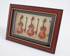 miniatura instrumento musical Violín, violonchelo, BASS en marco de fotos - fvbc