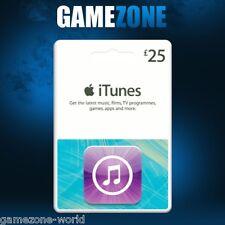ITunes Gift Card £ 25 GBP UK Apple iTunes CODICE 25 Sterlina Regno Unito