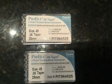 PROFILE endo rotary file .06 TAPER  Size 45 25mm 2 packages of 6