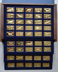 Jane's Medallic Register of World's Great Aircraft Gold on Bronze Proof Set
