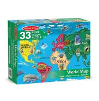 Melissa and Doug 10446 - Jumbo World Puzzle - 33 Pieces - NEW!!