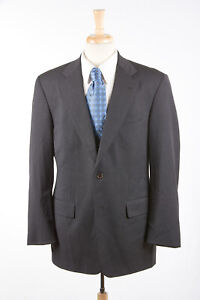 NWT BROOKS BROTHERS Sport Coat 41R in Solid Charcoal Gray Super 110s Wool Jacket