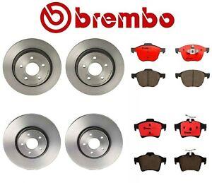 For Volvo S40 C30 C70 V50 Brembo Complete Front & Rear Brake Rotors & Pads Kit