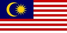Flag of Malaysia made in the USA High Quality Metal Fridge Magnet 2 x 4 9070