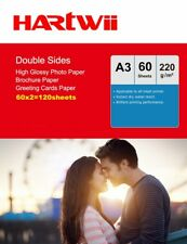 A3 Double Sided High Glossy Photo Paper 220Gsm Inkjet Paper Prinit - 120 Sheets