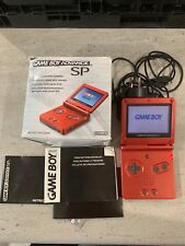 NINTENDO GAMEBOY ADVANCE SP GAME CONSOLE IN BOX RED RARE