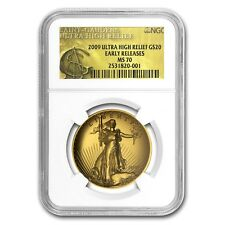 2009 Ultra High Relief Double Eagle MS70 NGC (ER, Gold Label) - SKU #59967