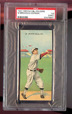 1911 T201 Mecca Double Folder Mordecai BROWN A HOFMAN PSA 3 (MC) Graded Card