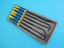 6pc Long Pick & Hook Set O Ring Seal Remover With Soft Grip Anti Slip Handle
