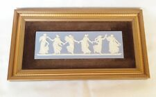Wedgwood Dancing Hours 1 Plaque - Blue Jasperware