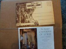 VINTAGE 1950 Caverns of Luray Virginia Souvenir Booklet + Envelope Shenandoah VA