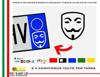 2X ADESIVO ANONYMOUS MAN DEEP WEB STICKER  LOGO per AUTO TARGA VETRO LAMIERA