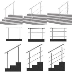Geländer für Seitenmontage Edelstahl Treppengeländer Brüstung Querstab Bausatz