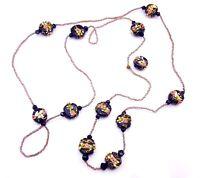 Art Deco Czech Lampwork beads necklace.