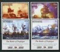 Micronesia 2005 MNH Battle of Trafalgar 200th Anniv 4v Set Ships Art Stamps