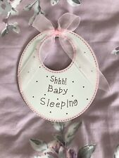 Shhh! Baby Sleeping Pink Hanging Sign, Nursery Decor, New Baby Gift