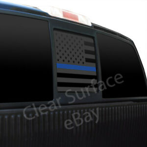 Fits Ford F150 2004-2014 American Flag Vinyl Window Decal Sticker Blue Red Line